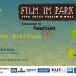 Film im Park. Kino unter freiem Himmel.